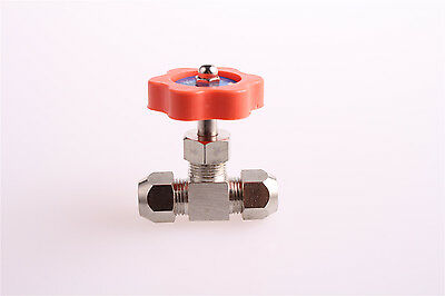 Metal High Pressure Needle Type Ball Valve 8mm Hole Dia Silver Tone