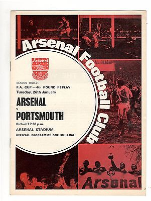 Arsenal Double Winners v Portsmouth 1970 - 1971  FA Cup 4th round replay