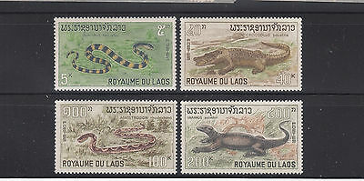 Laos 1967 Reptiles Sc 156-159   complete  mint never hinged