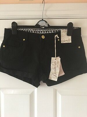 New Atmosphere Black  Jeans Shorts Size 14