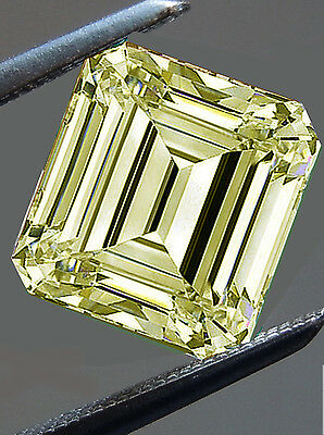 2.41 ct VS2/WHITE YELLOW COLOR LOOSE EMERALD SQUARE REAL MOISSANITE 4 RING