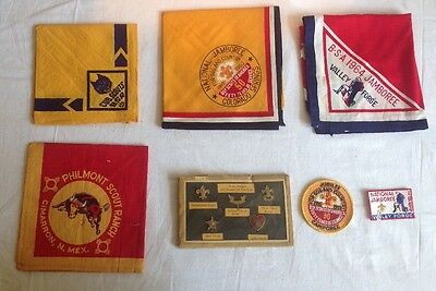 Collections of  BSA Scouts National Jamboree Neckerchief & Badges