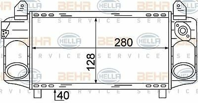 8ML 376 723-421 HELLA Intercooler  charger