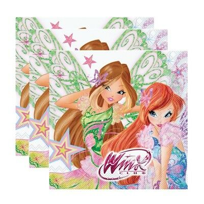 Winx Club - Butterflix - Party Kinder Geburtstag Servietten 20 Stk.