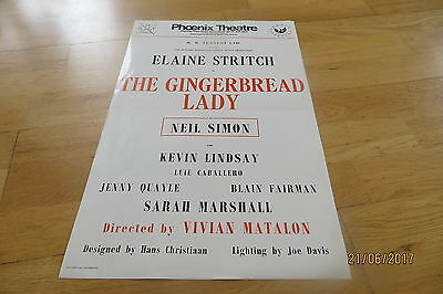 Elaine Stritch 'The Gingerbread Lady'' Poster Phoenix Theatre