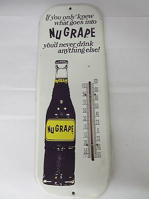 Vintage Advertising Thermometer Nu Grape Soda Authentic 354-X