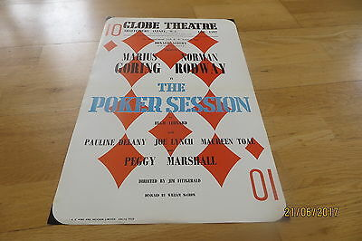 Marius Goring, Norman Rodway 'The Poker Session' Poster, Globe Theatre