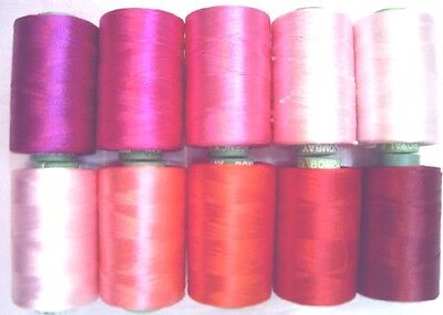 10 Rosy Hand Machine Embroidery Thread GIFT SISTER MOTHER 984Y RP3 Exotic #ERT8P
