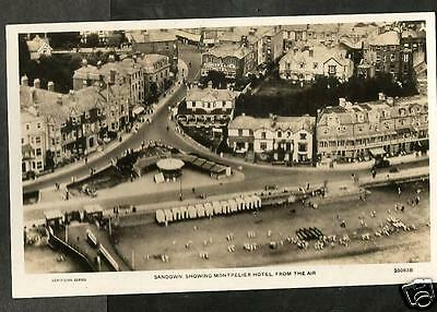 HAT Early Aerial Postcard, Sandown, Isle of Wight showing Montpelier Hotel