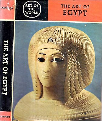 1963 Art Ancient Egypt Pharaohs Mummies Sacred Cats Illustrated Color Prints