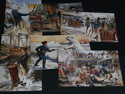Original Set Of Six R. Smith Signed Tuck Postcards - Eventful Nelson Incidents.