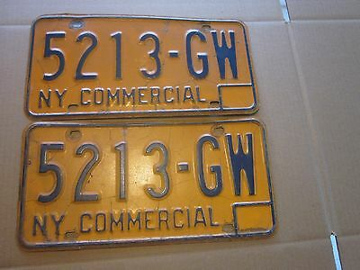 1973-86 New York State issued License Plates 5213-GW set of 2