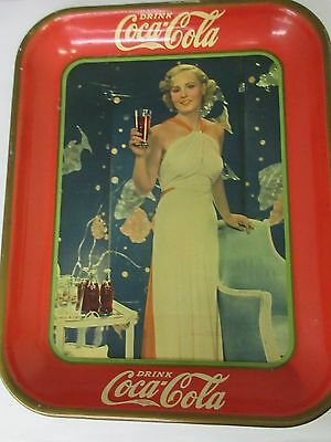 Authentic Coke Coca Cola 1935  Advertising Serving Tin Tray   229-W