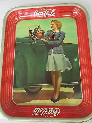 Authentic Coke Coca Cola 1942 Advertising Serving Tin Tray   719-M