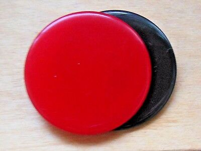 Vintage 1960's PopArt red black Lucite Plastic Circles pin brooch*midcentury mod