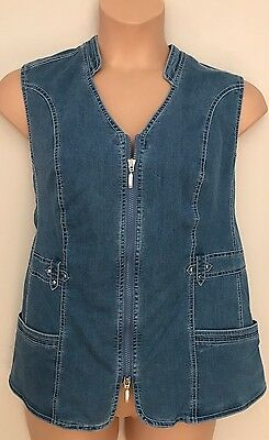 Ladies Denim Blue Waistcoat *** NEW *** PLUS SIZE 18