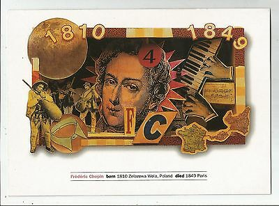 sa music postcard musical people chopin poland