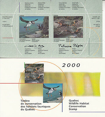 Canada MNH Quebec Conservation 2000 SIGNED  QW13  Value $ 55.00