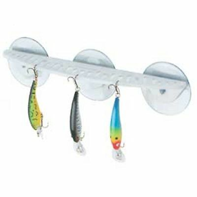 Fishing Lure Hook Rack 3 Large Suction Cups Holds up to 25 Hooks and Knife