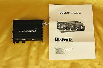 SOUND DEVICES MixPre-D - very good condition
