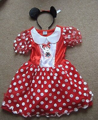 Disney Minnie Mouse Dressing Up Dress with Ears Headband Age 7-8