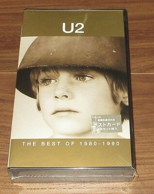 SEALED! U2 Japan official VIDEO Best Of 1980-1990 NTSC 1st issue with POSTCARDS?