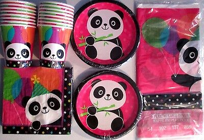 PANDA - MONIUM Birthday Party Supply Set Pack Kit for 16