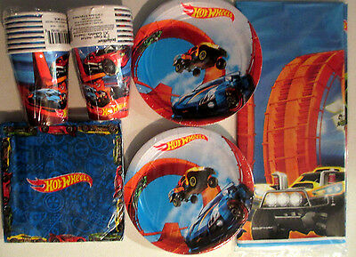 HOT WHEELS Wild Racer Birthday Party Supply Kit Pack Set for 16
