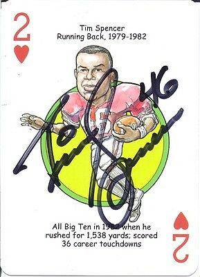 Tim Spencer The Ohio State Buckeyes Personally Autographed Card