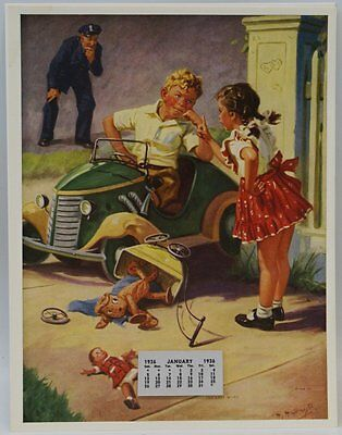 Vintage 1936 'The Last Word' Calendar and Illustration by H. Hintermeister (G11)