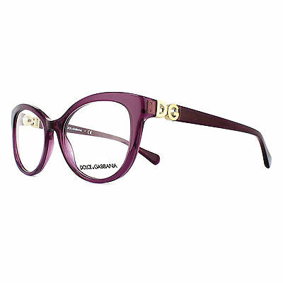 Dolce and Gabbana Glasses Frames 3250 3045 Transparent Violet Womens 54mm