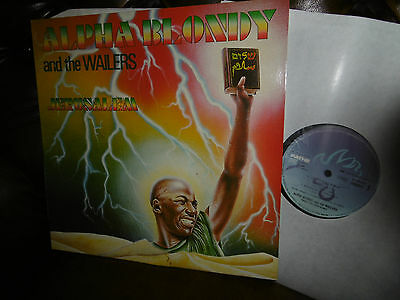 "Alpha Blondy and the Wailers, Jerusalem, Reggae, France Path 2406641LP, 12"" 1986"