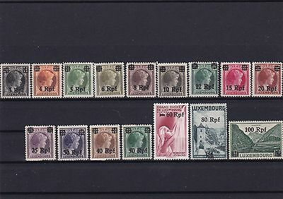 Germany 1940 Luxembourg Overprint Stamps Mounted Mint     R3165