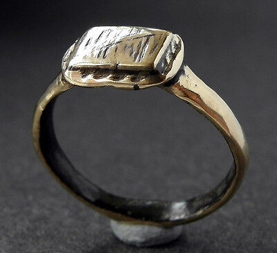 SUPERB GENUINE DECORATED MEDIEVAL Æ RING - wearable