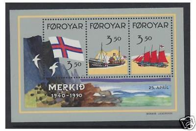 Faroe Islands - 1990 Faroese Flag sheet - MNH - SG MS195