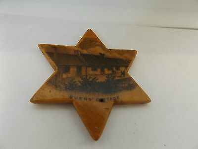 Victorian Mauchline ware treen BURNS COTTAGE star