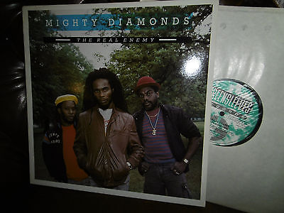 "Mighty Diamonds, The Real Enemy, REGGAE, UK England Greensleeves LP, 12"" 1987"