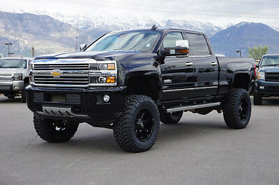 2015 Chevrolet Silverado 2500 HIGH COUNTRY CHEVY CREW CAB HIGH COUNTRY 4X4 DURAMAX DIESEL LEATHER NAV ROOF CUSTOM LIFT
