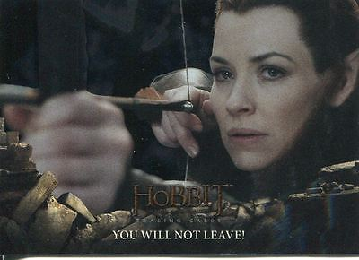 Hobbit Battle Of 5 Armies Foil Base Card #61 You Will Not Leave!