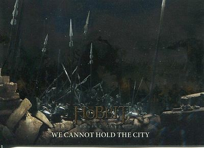 Hobbit Battle Of 5 Armies Foil Base Card #54 We Cannot Hold the City