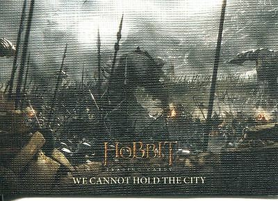 Hobbit Battle Of 5 Armies Canvas Base Card #54 We Cannot Hold the City