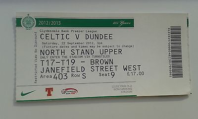 Celtic Dundee Ticket 2012-13