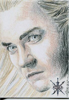 Hobbit Battle Of 5 Armies Sketch Card By Kristin Allen