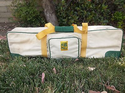 Vintage Forster Stratford 4 Player Croquet Set W/ Carrying Case 4095 Usa Euc