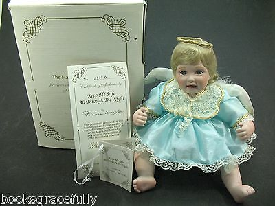 "Hamilton Collection Porcelain Doll GUARDIAN ANGEL ""Keep Me Safe""  Boxed 0308-B"