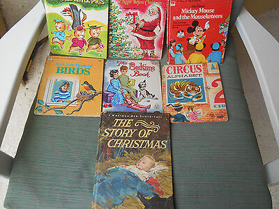 "Lot of 7 WHITMAN Vintage  CHILDREN BOOKS  ""A TELL-A-TALE BOOK"""