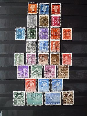 INDONESIA :- 1948 - 1951 : Mint & Used selection.