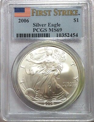 2006 American Eagle Silver - PCGS MS69 -  FIRST STRIKE - No Reserve