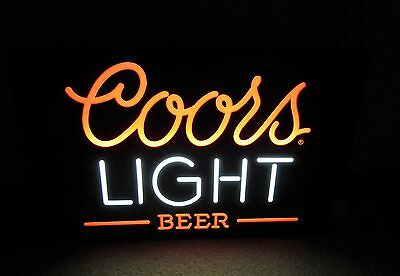 NOS  1984 COORS light BEER LIGHTED vintage NEON-LIKE wall sign