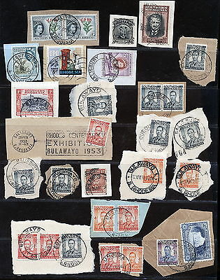 S.rhodesia Kgvi Etc Lot Used On Piece - Postmarks.      A195